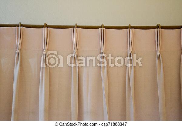 ピンクのカーテン, 柵, ring-top, カーテン - csp71888347
