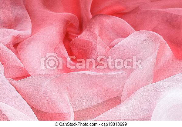 ピンク, 絹 - csp13318699