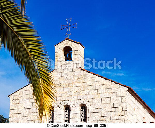 ファサド, 乗算, 教会, tabgha - csp16913351