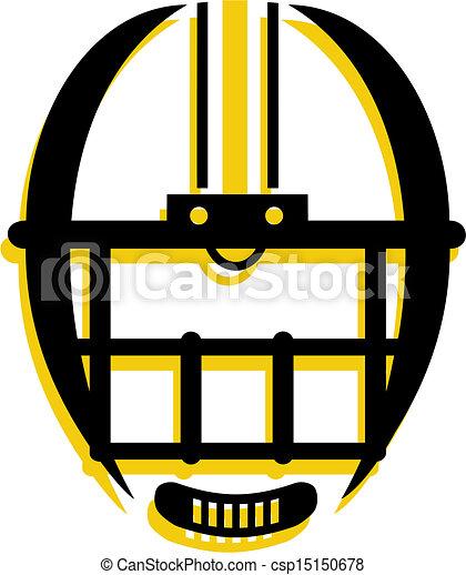 ヘルメット, グラフィック, アウトライン, フットボール - csp15150678