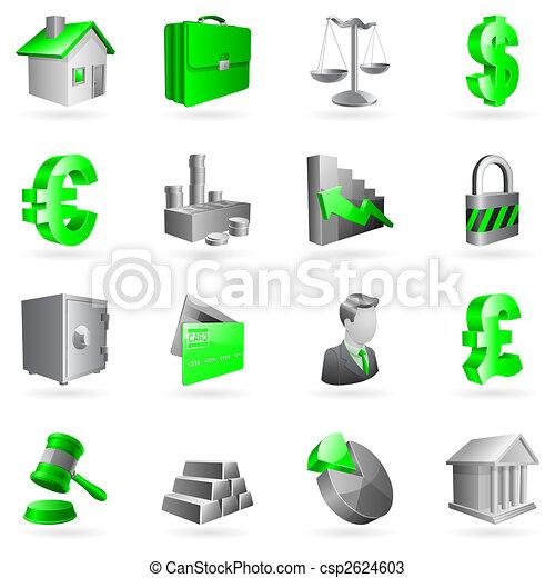 ベクトル, ビジネス, icons. - csp2624603