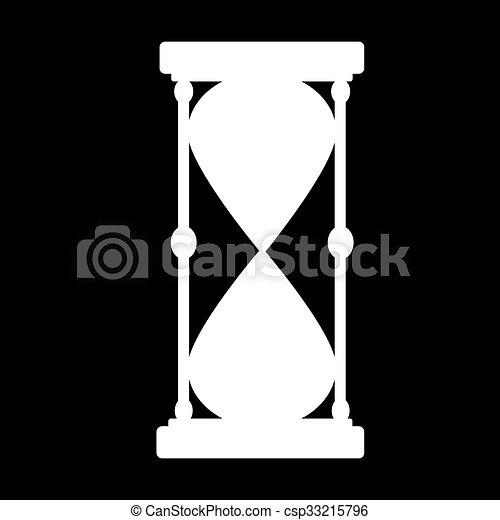 ベクトル, 黒, hourglass., silhouette. - csp33215796
