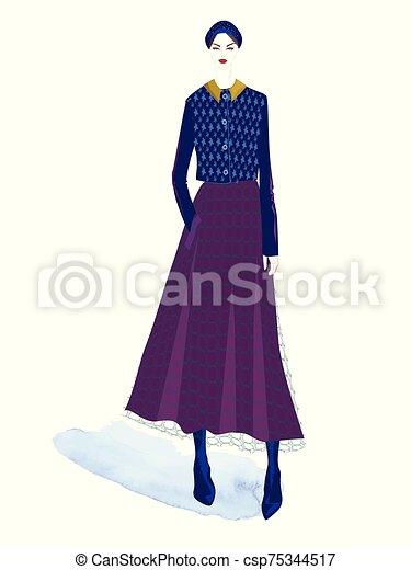ベクトル, illustration., ファッション - csp75344517