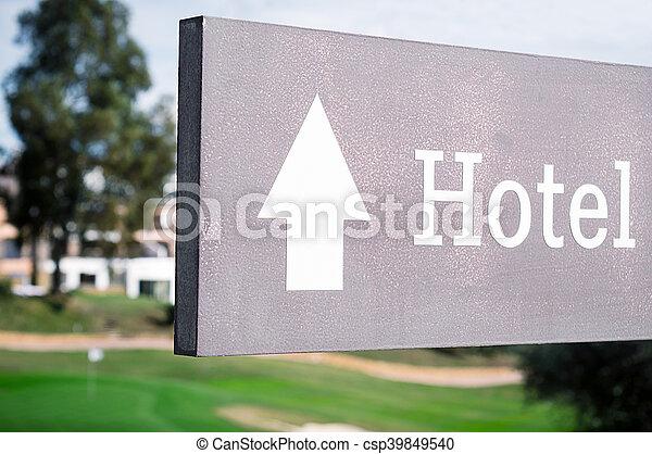 ホテル, 印 - csp39849540