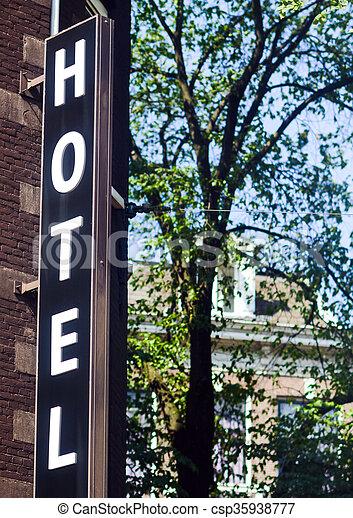 ホテル, 印 - csp35938777