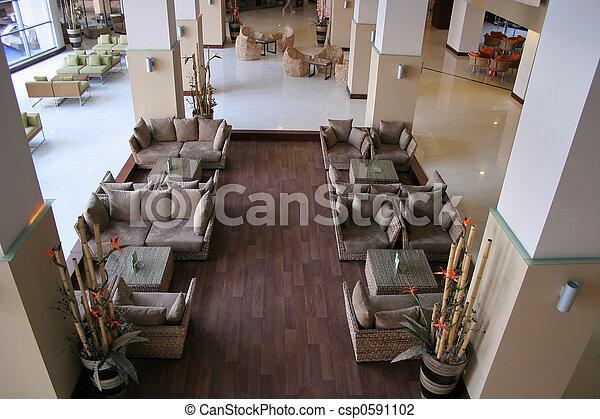 ホテル, 東洋人, ロビー - csp0591102