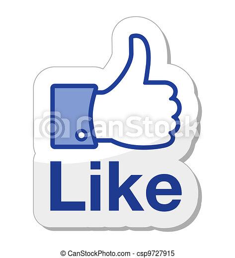ボタン, facebook, それ, のように - csp9727915