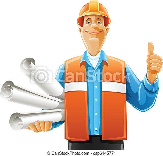 マネージャー, 仕事, 図画, スクロール - csp6145771