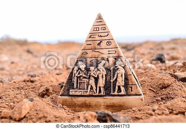 モデル, エジプト人, ミニチュア, ピラミッド - csp86441713