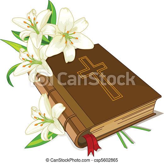 ユリ, 聖書, 花 - csp5602865