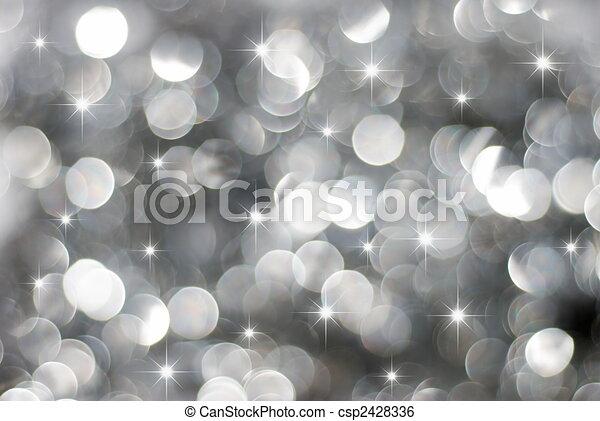 ライト, 白熱, 休日, 銀 - csp2428336
