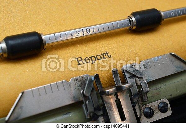 レポート, テキスト, タイプライター - csp14095441