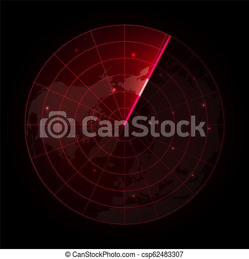 レーダー, スクリーン - csp62483307