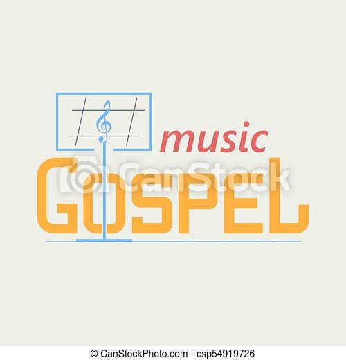 ロゴ, ゴスペル, 音楽 - csp54919726