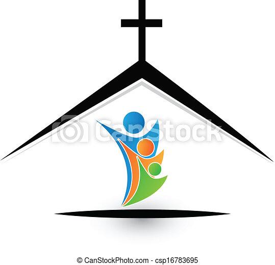 ロゴ, 家族, 教会 - csp16783695