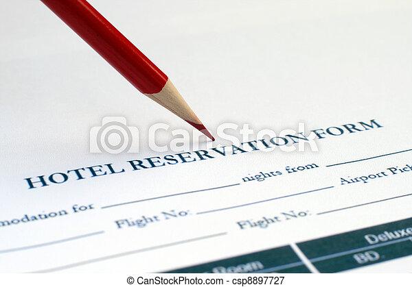 予約, ホテル, 形態 - csp8897727