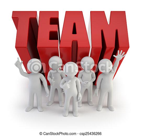 人々, 信頼性が高い, -, チーム, 小さい, 3d - csp25436266