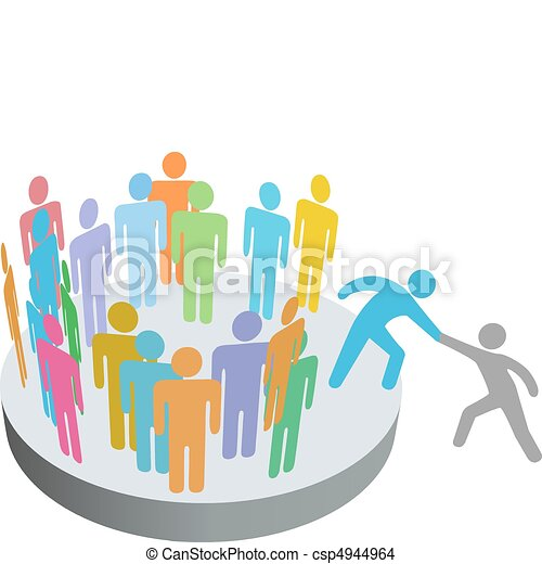 人々, 参加しなさい, 助け, 人, メンバー, グループ, 会社, ヘルパー - csp4944964