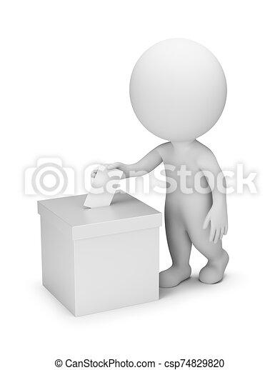 人々, 投票, -, 3d, 小さい - csp74829820