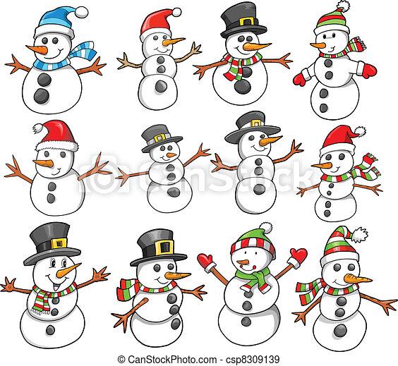 休日, クリスマス, 雪だるま, 冬 - csp8309139