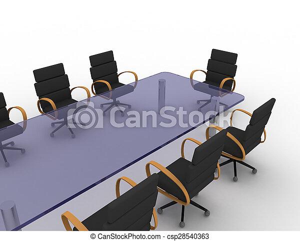 会議室, 3d - csp28540363