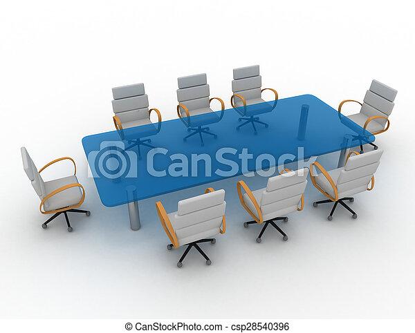 会議室, 3d - csp28540396