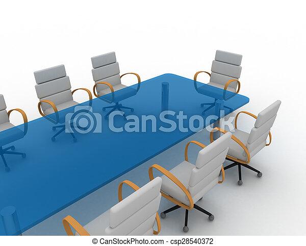 会議室, 3d - csp28540372