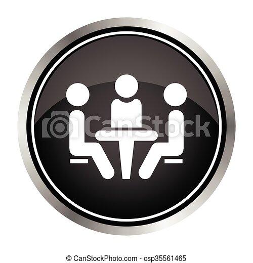 会議, icon. - csp35561465