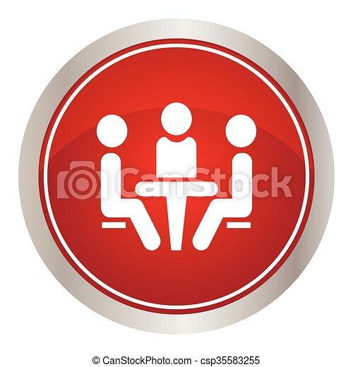 会議, icon. - csp35583255