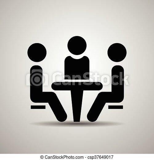 会議, icon. - csp37649017