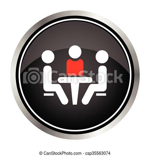 会議, icon. - csp35563074