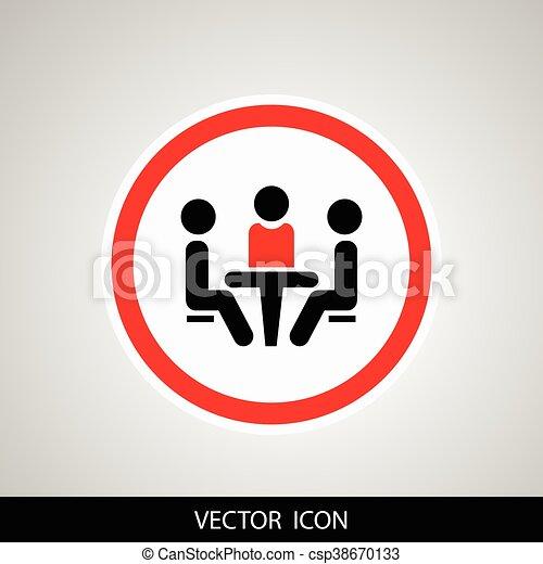 会議, icon. - csp38670133