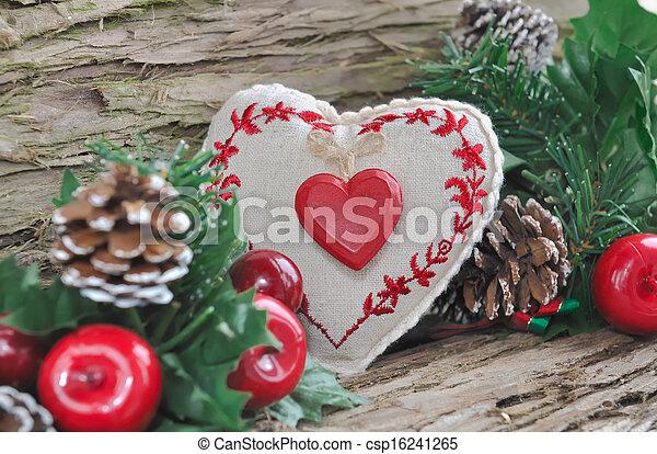 伝統的である, 装飾, クリスマス - csp16241265