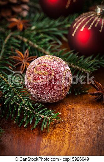 伝統的である, 装飾, クリスマス - csp15926649