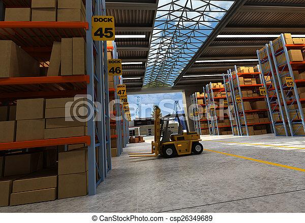倉庫, 分配 - csp26349689