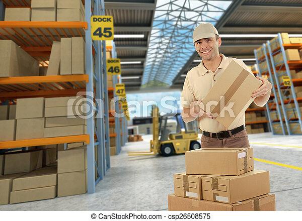 倉庫, 分配, 労働者 - csp26508575