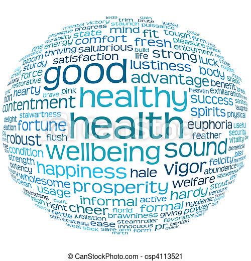 健康, よい, 健康, 雲, タグ - csp4113521