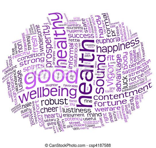 健康, よい, 健康, 雲, タグ - csp4187588