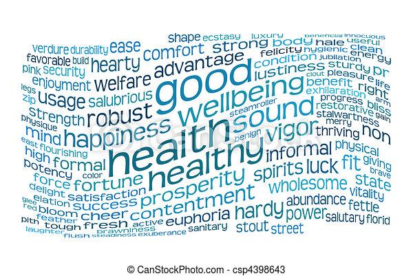 健康, よい, 健康, 雲, タグ - csp4398643