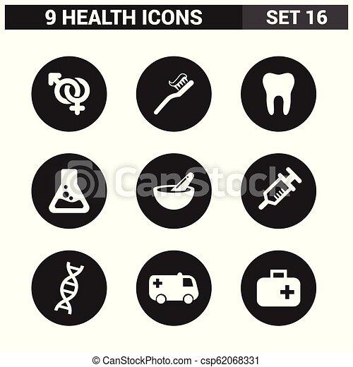 健康, ベクトル, セット, アイコン - csp62068331