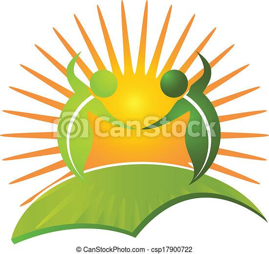 健康, ロゴ, 生活, ベクトル, 自然 - csp17900722