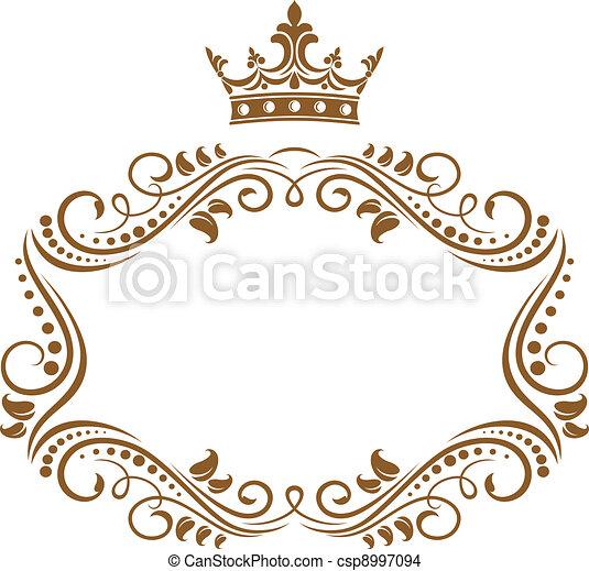 優雅である, フレーム, 国王の王冠 - csp8997094