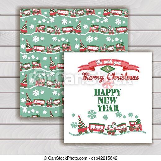 優雅である, 封筒, クリスマスカード - csp42215842