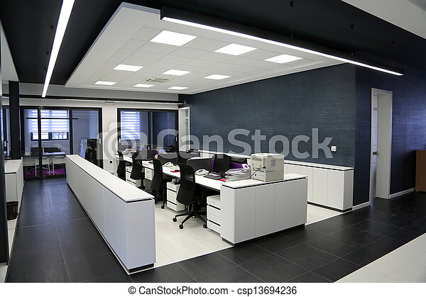 内部, 現代, オフィス - csp13694236