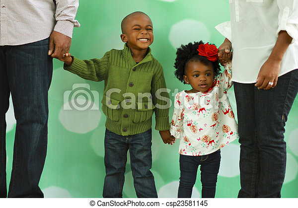 写真, 黒, クリスマス, family's - csp23581145