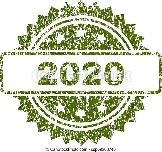 切手, グランジ, textured, 2020, シール - csp59268746