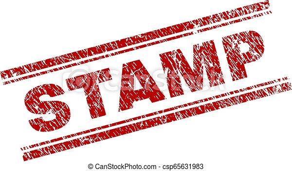 切手, textured, グランジ, シール - csp65631983