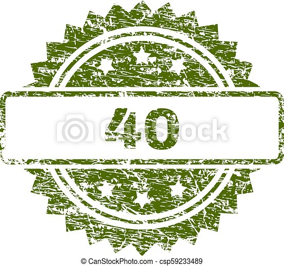 切手, textured, グランジ, 40, シール - csp59233489