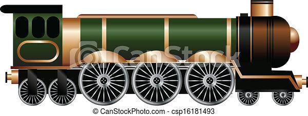 列車, 蒸気 - csp16181493