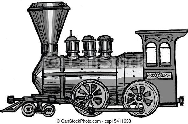 列車, 蒸気 - csp15411633
